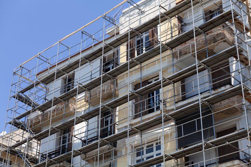 老朽化したマンション